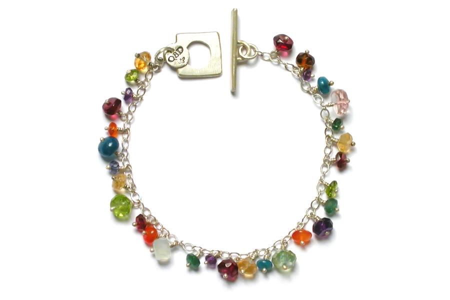 multicolour dangle bracelet   $140.00   item 04-001