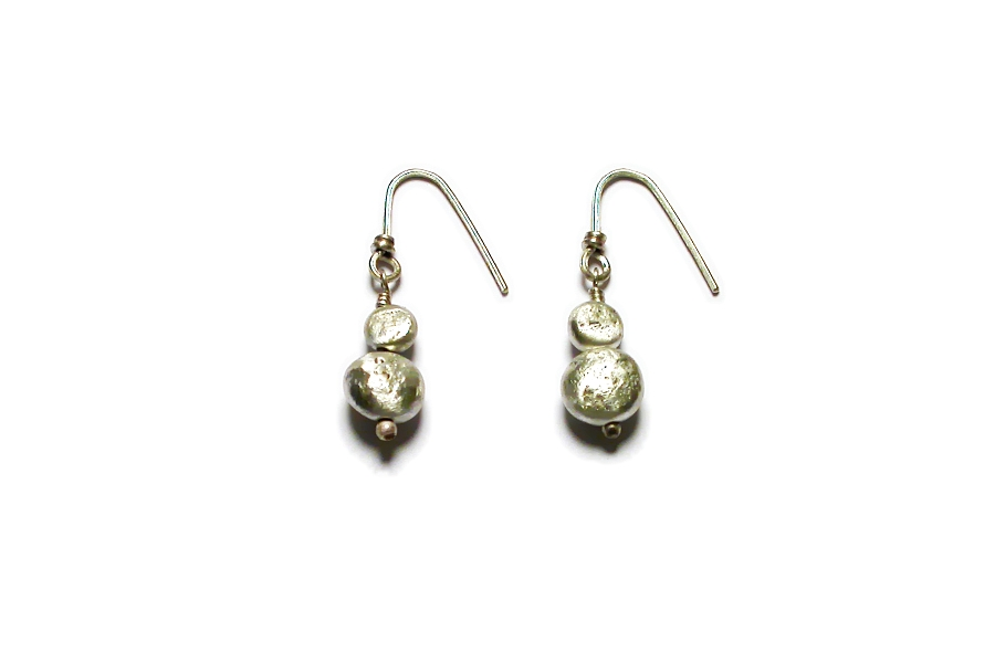 double long-drilled nugget earrings   $80.00   item 04-028