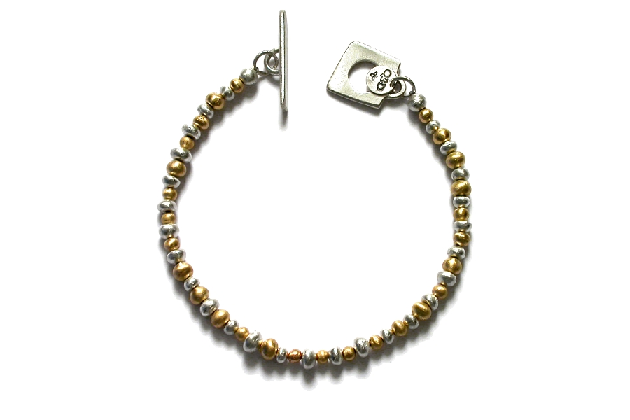 gold & silver mini-nugget bracelet   $795.00   item 04-162