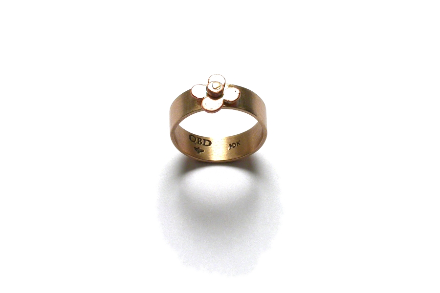 gold and pink gold bloom ring   $350.00   item 04-466