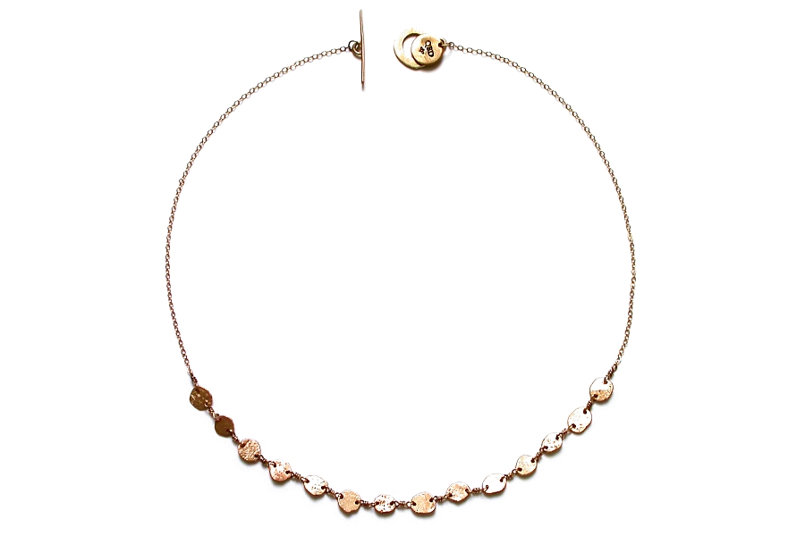 gold mini-disc neckpiece   $695.00   item 05-082