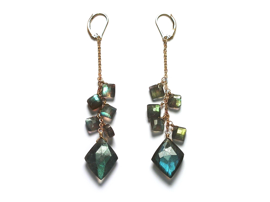labradorite 'kite' earrings   $130.00   item 06-231