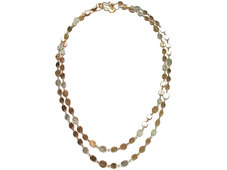 gold & silver mini-disc 42 inch neckpiece   $2,995.00   item 07-224