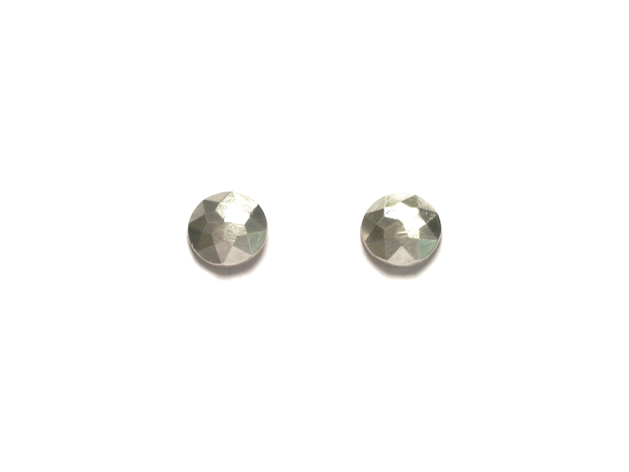 faceted silver round 'gem' earrings   $95.00   item 07-237