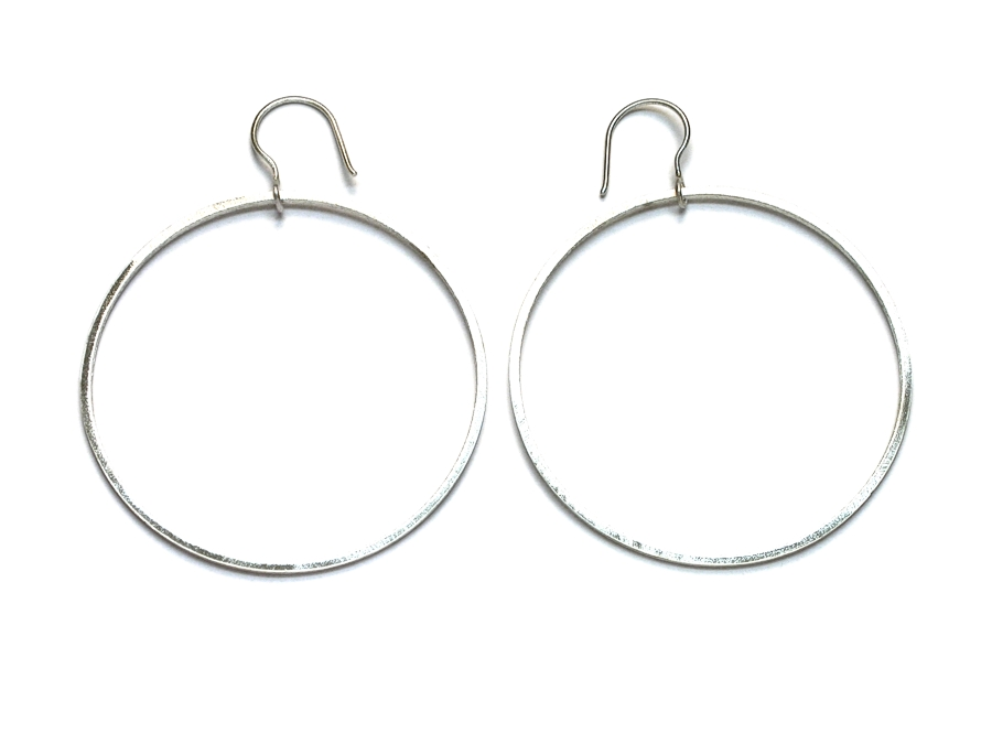 extra large silver link earrings   $75.00   item 09-101