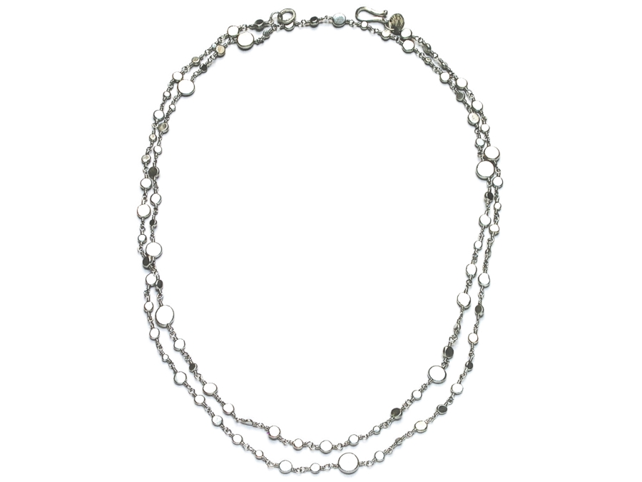 wired 40inch silver dot neckpiece   $695.00   item 09-114