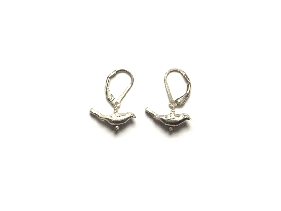 cast silver bird earrings   $120.00   item 10-138