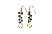 sapphire & gold disc earrings   $220.00   item 03-063