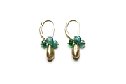 apatite & gold drop earrings   $230.00   item 03-072