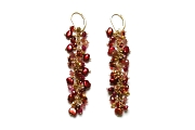 reds & golds extra-long cluster earrings   $295.00   item 04-044