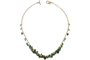 emerald, apatite & tourmaline dangle neckpiece   $350.00   item 04-049