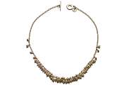 silver & gold mini-nugget cluster neckpiece   $595.00   item 04-416