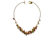 'citrus' on gold cluster neckpiece   $360.00   item 04-424
