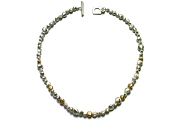 long-drilled silver & gold nugget neckpiece   $695.00   item 04-431