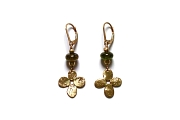 gold bloom, mini-nugget and tourmaline earrings   $295.00   item 04-476