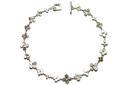 silver bloom neckpiece   $440.00   item 04-482