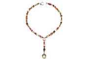 citrus & gold Y neckpiece with lemon quartz briolette   $540.00   item 05-039