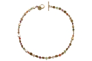 gold mini-disc & citrus neckpiece   $995.00   item 05-081