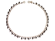 onyx & black cz dangle neckpiece   $195.00   item 06-212