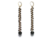 extra-long onyx & black cz dangle earrings   $160.00   item 06-213