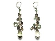 green amethyst & labradorite gypsy earrings   $195.00   item 06-227