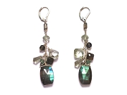 labradorite & green amethyst gypsy earrings   $165.00   item 06-229