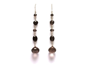 mixed smoky quartz drop earrings   $120.00   item 06-238