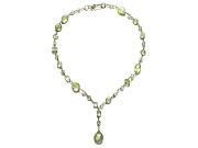 mixed prehnite wire-wrapped Y neckpiece   $195.00   item 07-122