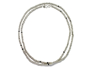 silver mini-nugget & black cz extralong neckpiece   $560.00   item 07-134