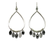 silver & tourmalated quartz dangle earrings   $190.00   item 07-135