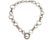 silver interlink & rock crystal neckpiece   $375.00   item 07-204