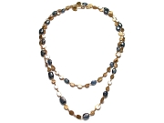 gold mini-disc & kyanite 42 inch neckpiece   $2,995.00   item 07-212