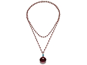 ruby, apatite & red hydrothermal quartz 38 inch neckpiece   $360.00   item 07-229