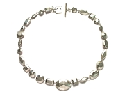 faceted silver 'gem' neckpiece   $660.00   item 07-232
