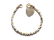 silver, vermeil faceted bead & rutilated quartz 'heart' bracelet   $240.00   item 10-106