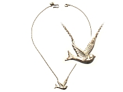 cast silver swallow pendant   $175.00   item 10-137