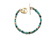 mixed blues, vermeil & 10k gold rondelle bracelet   $260.00   item 10-143