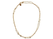 40 inch silver chain and dot neckpiece, gold plated   $395.00   item 10-147